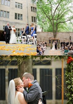 Garden Wedding at the Indiana Memorial Union. (via Social Butterfly)