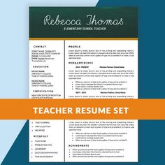 Experienced Teacher Resume | Deaf Stuff | Pinterest | Teacher, School And Teaching  Resume  Free Resume Templates For Teachers