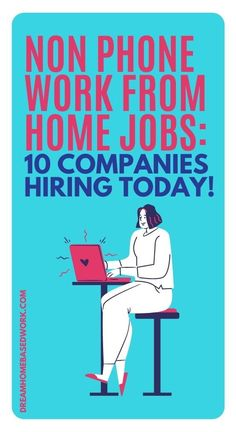 Are you searching for non-phone work from home jobs?Now, there's a wide range of non-phone work from home opportunities so you can choose what fits best with your experience and preferences. As an alternative to home-based phone jobs, you can try non-phone jobs that involve typing, digital services, or even chat-based support. Try one of these 10!  #workathome #jobs