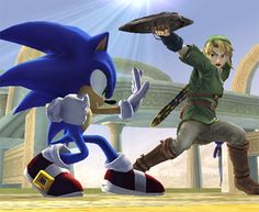 Sonic and Link, my two favorite Super Smash Bros. characters.