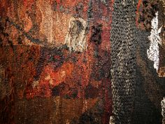 Textile Tapestry, Tapestry Weaving, Sisal, Gouache, Magdalena Abakanowicz, Materials And Structures, Unusual Words, Weaving Process, Weaving Textiles