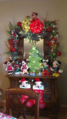 A Disney Christmas with Mickey and Minnie.
