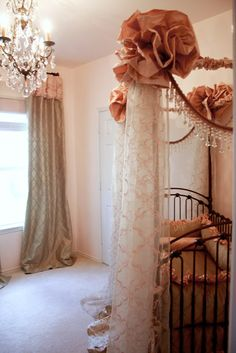 Baby girl nursery.  I adore this!!