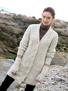 LONG BOYFRIEND COAT by Natallia Kulikouskaya for Aran Craft of Ireland