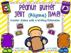 Peanut Butter Jelly (Rhyme) Time {Rhyming Game... by Mrs V's Chickadees | Teachers Pay Teachers