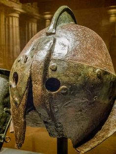 Roman gladiatorial helmet, 1st century A.D., from Ercolano
