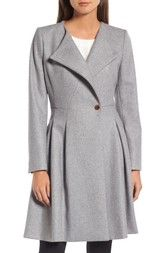 Ted Baker London Wool Blend Asymmetrical Skirted Coat available at #Nordstrom