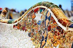 Detail van Bank door Gaudi