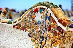 Detail of Bench by Gaudi by Pitatatu, via Dreamstime