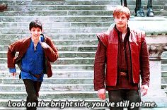 Merlin & Arthur :3 (gif set) This is adorable.