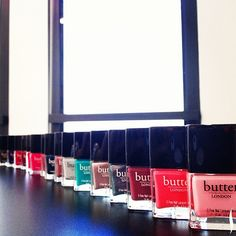 Seen at #SephoraHQ: the @butter LONDON nail lacquer collection. Shop the line now: http://seph.me/L0lLeS Have you tried butter LONDON yet?