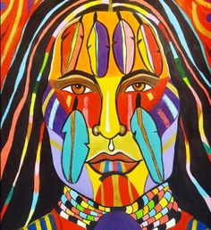 """Rainbow Warrior 2"" by Cree (First Nations) artist George Littlechild"