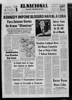 Bloqueo aeronaval de EU a Cuba. Publicado el 23-10-1962