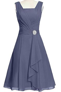 ModernBride Women Elegant Summer Chiffon Mother's Dresses 2015 Size 2 US Stormy Modernbride www.amazon.com/... Women's Dresses - Dress for Women - http://amzn.to/2j7a1wP