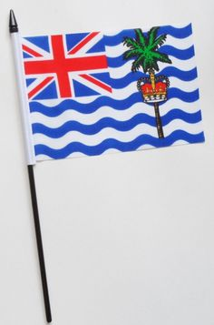 The national flag of the British Indian Ocean Territory is just like the flags of other British colonies and dependencies as it consists of the Union Flag at the higher hoist-side. British Indian Ocean Territory, Union Flags, Outdoor Flags, National Flag, Symbols, Banners, Ebay, Icons, Posters