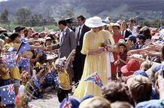 April 12 1983: Prince Charles & Princess Diana in Buderim, Queensland, Australia.