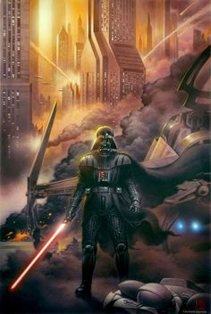 Star Wars Vader art. Not a Stars Wars fan, but this artwork is pretty awesome