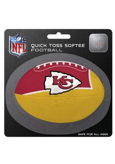 Kansas City Chiefs (KC Chiefs) Quick Toss Football http://www.rallyhouse.com/shop/kansas-city-chiefs-kansas-city-chiefs-quick-toss-football-2047067 $4.99