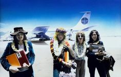 click the pic for the story,  Zeppelin arriving in Hawaii May 1969.