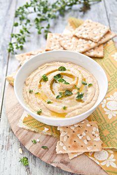 ... homemade hummus (no garlic) ...