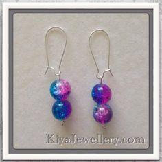 Glass earrings.