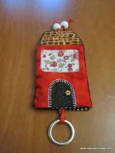 Llavero patchwork Key Covers, Key Case, Fabric Houses, Pouch, Personalized Items, Mini, Key Fobs, Key Hangers, Dads