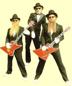 ZZ Top: Bill Gibbons, Dusty Hill, and Frank Beard posing for the camera Zz Top, Billy Gibbons, Music Is Life, My Music, Frank Beard, Houston, Band Pictures, Music People, Sharp Dressed Man