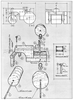 #1250 Wooden Steam Roller Plan - Children's Wooden Toy Plans and Projects