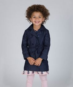 Another great find on #zulily! Indigo Denim Trench Coat - Toddler & Girls #zulilyfinds