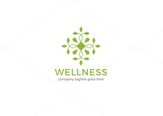 Wellness Logo by XpertgraphicD on @creativemarket