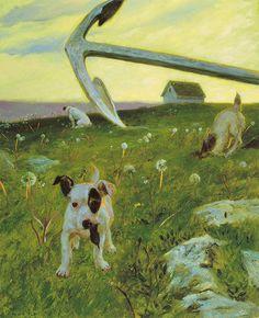 Voles - Jamie Wyeth (notice the delightful dandelions)