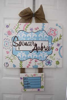 Hospital door decorations on pinterest hospital door for Baby girl hospital door decoration