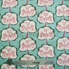 TREES MINT Aglow Sapling Sloe UTOPIA by the Yard, Half Yard, Fat Quarter Cotton Quilt Fabric Art Gallery Fabrics Frances Newcombe