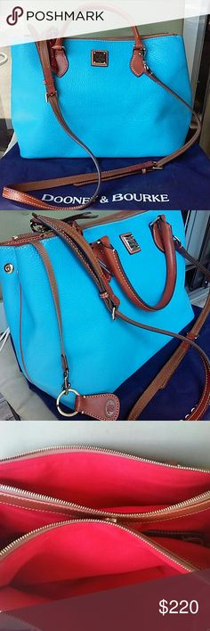 Dooney and Bourke pebbled leather bag nwot Newer used,adjustable strap, key chain and dust bag included, thus bag have two zip section, ask fir additional pictures Dooney & Bourke Bags Crossbody Bags