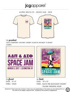 JCG Apparel : Custom Printed Apparel :  Alpha Delta Pi Space Jam T-Shirt #alphadeltapi #adpi #spacejam #bugsbunny #aliens #ufo #monstars #wannabelikemike