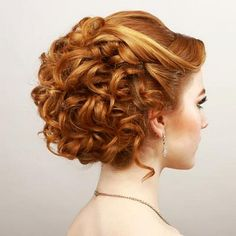 prom updos for short curly hair