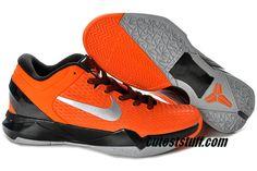 a3ee64e01447 Kobe 7 Shoes Elite Orange Metallic Silver Black 511371 800 Kobe Basketball