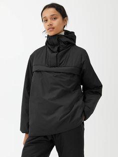 Padded Anorak - Black - Jackets & Coats - ARKET GB Fashion 2020, Autumn Winter Fashion, Attitude, Sportswear, Rain Jacket, Windbreaker, Raincoat, Sporty, Black Jackets