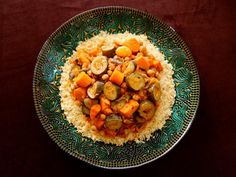 Moroccan-Style Vegetable Couscous - Easy and Flavorful Vegetarian Entree will sub quinoa for couscous