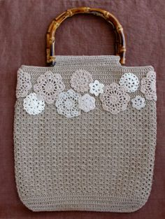 crochet motif bag