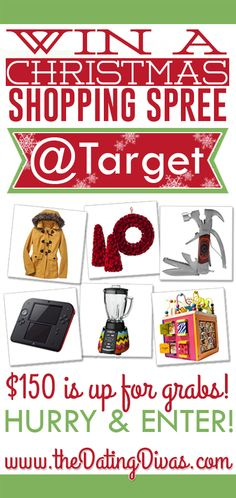 ONE LUCKY WINNER is going home with $150 BUCKS to spend at Target this holiday season... And it could be YOU!!! Click here to enter.