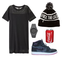 """""""Fact: I Love Black, I Love Beanies, I'm Not Good Watches And I Can Drink Any Soda"""" by marsophie ❤ liked on Polyvore featuring H&M, CC and NIKE"""