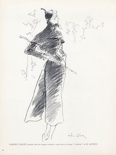 Robert Piguet couture | illustrated by Pierre Simon | 1949