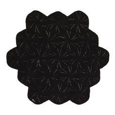 Black Scallop Floor Rug – La De Dah Kids