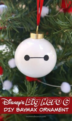 Disney's Big Hero 6 DIY Baymax Ornament - so easy to make & super cute!
