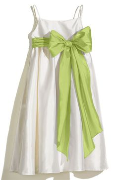 Us Angels Ivory A-Line Dress with Sash (Toddler, Little Girls & Big Girls) available at #Nordstrom