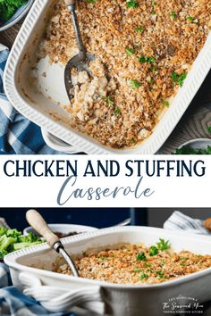 Stuffing Casserole, Casserole Dishes, Easy Dinner Recipes, Easy Meals, Creamed Mushrooms, Stuffed Mushrooms, Cream Of Chicken Soup, Rotisserie Chicken, Weeknight Meals