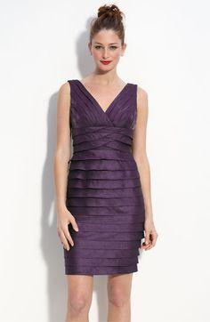 By Adrianna Papell; Satin Gown, Satin Dresses, Formal Dresses, Sheath Dress, Peplum Dress, Bodycon Dress, Purple Reign, Got The Look, Tiered Dress