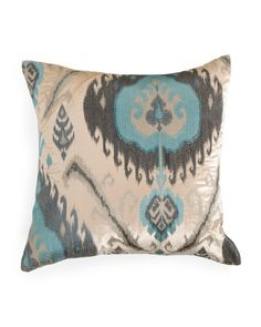 22x22+Velvet+Pillow+With+Ikat+Embroidery
