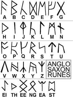 """""""Anglo-Saxon Runes"""" May embroider bad words using these... just sayin'"""